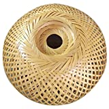 Moligh doll Bamboo Wicker Rattan Lampshade Hand-Woven Double Layer Bamboo Dome Lampshade Asian Rustic Japanese Lamp Design