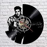 BFMBCHDJ Disque vinyle horloge murale design moderne musique thème pendentif rock roi montre horloge murale silencieux décoration de la maison