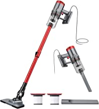 Vacuum Cleaner Corded 17KPa Suction Handheld & Stick Vacuum, Lightweight & Versatile with Metal ?lter and HEPA for Hardwood Floor Pet Hair