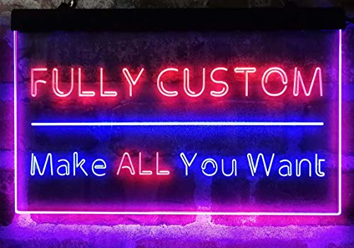 ADVPRO [Custom. Dual-Color] LED Neon Sign, Your Own Design, 13 Dual-Color, 3 Sizes,...