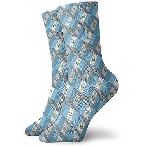 LAVYINGY Guatemala Flag Socks Men's Women's Athletic Soccer Dress Socks Thick Crew Socks