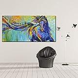 Wfmhra Graffiti Mode Pferd läuft Leinwand Malerei