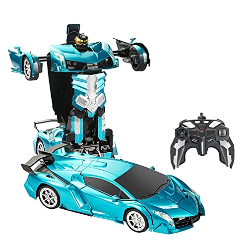 NQHYMX Deformación Gundam Control Remoto Coche Control Remoto Robot De Deformación Eléctrico Juguete para Niños Autobot Racing (Size : I)