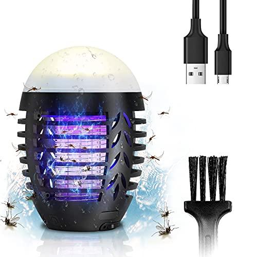 SGAINUL Insektenvernichter,Moskito-Killer-Lampe, Moskito-Zapper,Insektenlampe,Tragbarer Mückenvernichter,Killer Flying Insect für drinnen/draußen