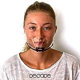 Plastik Maske SCHWARZ DECADE® 10 Stück Plastik Mundschutz, Face Shield Kinn Maske Visier Gesichtsschutz, Mund Nasenschutz, Schutzvisier transparente Maske aus Kunststoff