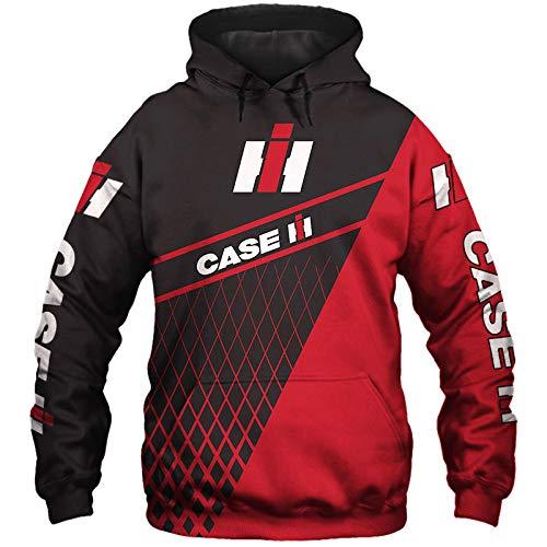 xiaoxian Männer Hoodies Jacke Zum Case-Ih 3D Drucken Pullover/Zip Sweatshirts Case-Ih-Fan Unisex Lose Jumper Tops Sport / A1 / XL