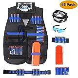 Unigear Gilet Tactique Enfant, Veste Kit de Jungle Camouflage Tactique pour N-Strike Elite Séries de Nerf Combat...
