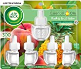 Air Wick Plug in Scented Oil Refill Freshener Essential Oils, Fresh Peach and Sweet Nectar, 5 Count