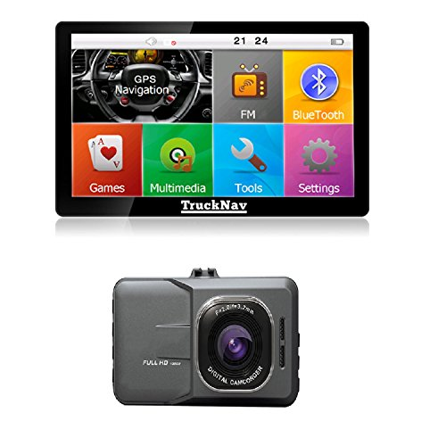 NEW Camion SAT NAV 17,8 cm + Dash Cam + Carte SD 8 Go