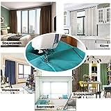 WOLTU 488-2, 2 x Gardinen Vorhang Blickdicht mit Ösen, 2er Set leichte & weiche Verdunklungsvorhängen für Wohnzimmer Schlafzimmer Tür, 135x245 cm, Crème - 5