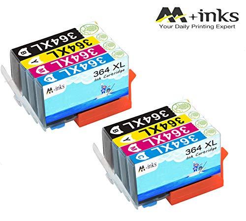 AA+inks 8 confezioni di ricambio per Sostituito per cartucce d'inchiostro HP 364XL 364 Compatibile con HP Photosmart 6520 5510 7510 7520 6510 5515 5520 C5380 B110a Stampanti HP OfficeJet 4620 4622