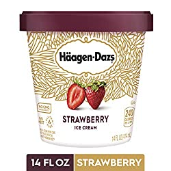 HAAGEN-DAZS Ice Cream, Strawberry, 14 Fl. Oz. Cup | No GMO Ingredients | No rBST | Gluten Free