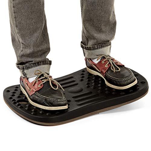 """Seville Classics airLIFT 20"""" Standing Desk Wobble Board Balance Ergonomic Non-Slip Anti Fatigue Pad, Black"""
