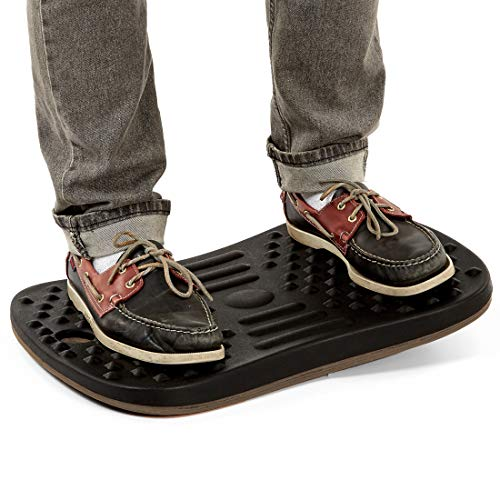 Seville Classics airLIFT 20' Standing Desk Wobble Board Balance Ergonomic Non-Slip Anti Fatigue Pad, Black