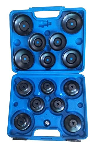 KFZTEILESCHNELLVERSAND24 15 TLG. teilig Universal ÖlFilter Ölfilterkappen Ölfilterschlüssel Werkzeug