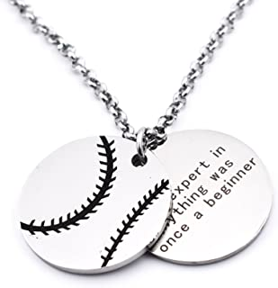 Personalized Basketball Necklaces Chain Pendants Sport Jewelry Inspirational Quote Baseball Gift Teens