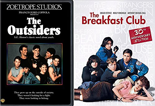 The Breakfast Club & The Outsiders DVD 80's Movie Bundle Double Feature Set