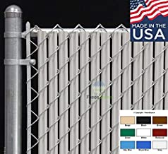 Fence Source Wave Slat (9 Colors) Single Wall Bottom Locking Privacy Slat for 4', 5', 6', 7' and 8' Chain Link Fence (6 ft, Gray)
