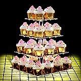 ANJI Depot - Soporte para cupcakes de cumpleaños con 4 animales, decoración para fiestas, bodas, cumpleaños (4 en 1, luz amarilla de animales)