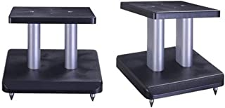 Stands Speaker Stand Metal Wooden Bookshelf Speaker Stand Home Theater Professional Speaker Bracket Surround (Color : Blac...