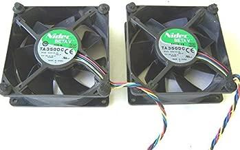 Lot of 2 Nidec BETA V TA350DC Computer Cooling Fans 12 VDC 0.55 A 92 mm.