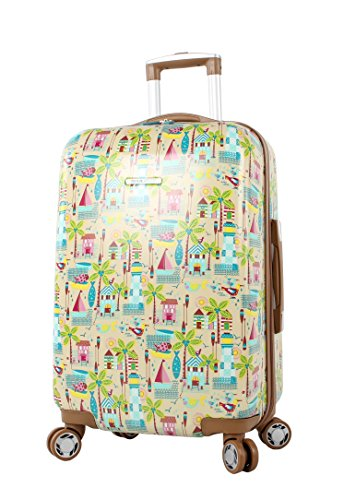 Lily Bloom Hardside Luggage 24' Design Pattern Spinner Suitcase For Woman (24in, Beach House)