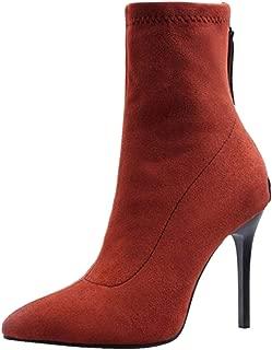 ELEEMEE Women Fashion Stiletto High Heel Stretch Boots