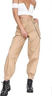 Sportivo Largo Pantaloni Donna Beige 35RLj4A