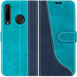 Mulbess Handyhülle für Huawei P Smart Plus 2019 Hülle Leder, Handy Honor 20 Lite Hülle, Modisch Flip Handytasche Schutzhülle für Huawei P Smart+ 2019, Mint Blau