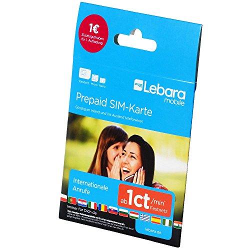 Lebara-Mobile Pre-Paid SIM-Karte mit 0? Guthaben