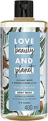 Love Beauty & Planet Natural Coconut Water & Mimosa Flower Refreshing Body Wash, Gentle Plant-based Cleanser, Paraben...