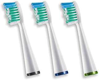 Waterpik Sensonic Toothbrush Standard Brush Head, SRRB-3W, 3 count
