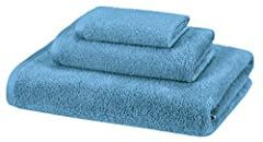 3-piece towel set includes a bath towel, hand towel, and washcloth Made of 100% cotton for softness and tear-resistant strength Lightweight; quickly absorbs moisture for a cozy feel; attractive solid color Simple band and border detailing adds visual...