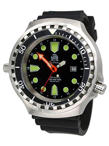 """'52mm """"24horas manecillas Reloj Automático De Buceo reloj con cristal de zafiro/Helium Válvula t0309"""