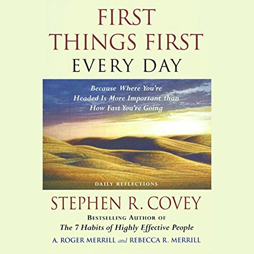 First Things First Every Day audiobook cover art