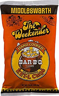 Middleswarth Hand Cooked Old Fashioned KET-L Potato Chips Bar-B-Q Flavored The Weekender (3 Bags)
