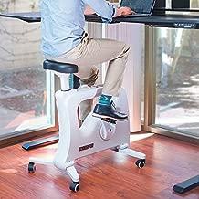FlexiSpot Under Desk Bike Home Office Exercise Bike Height Adjustable Indoor Fitness Desk Cycle Deskcise Pro White - Relief Sedentary Lifestyle