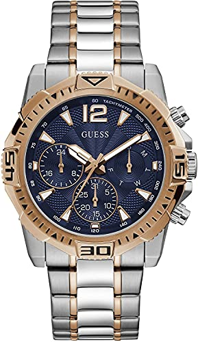 Guess Reloj Dial múltiple para Hombres de Cuarzo con Correa en Acero Inoxidable GW0056G5
