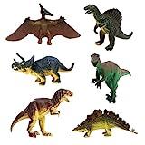 JZK 6 Assorted Set Toy Dinosaur Figures Triceratops Pterodactyl...