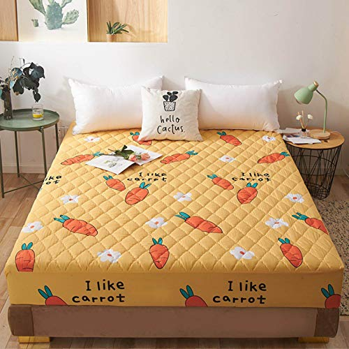 Family Bedding Cotton, Waterproof Double Bed Mattress Protector, Mattress Cover Four Corners with Elastic Band Bed Sheet, Anti Allergy and Breathable in (30Cm Deep)