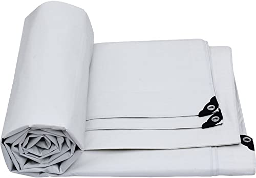 Hyzb Bache, Double Face étanche, perforé, adapté pour Les tentes, Camping, différentes Tailles Disponibles, Blanc (Taille   3M4M)