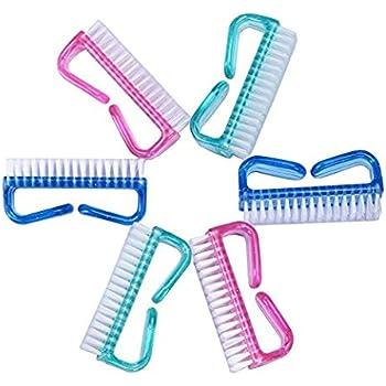 AntiqueShop Nail Brush Plastic Handle Scrubbing Cleaning Brush, Purple, 50 g