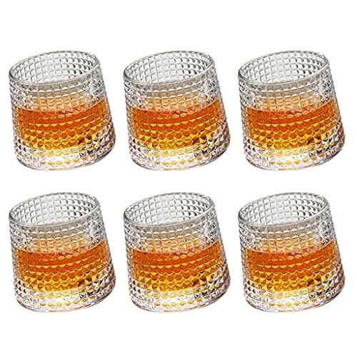 Cristalería Vaso De Whisky Vaso Creativo Vaso De Cristal Martillado Japonés Cristal Sin Plomo Cristal Hecho A Mano (Color : Clear, Size : 150ml*6)