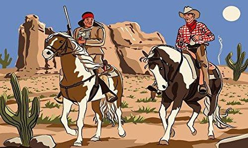 U24 Drapeau du Cowboy et indien - 90 x 150 cm
