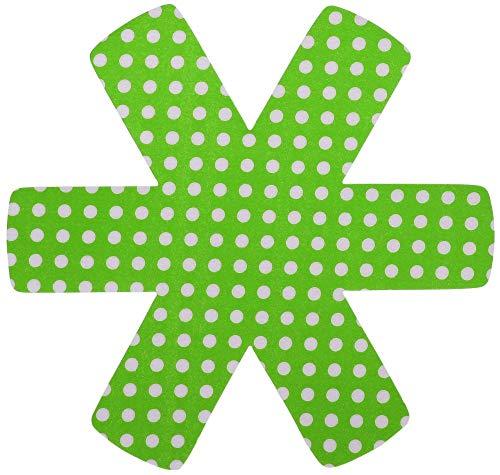 Steuber 3er Set Pfannenschutz 38 x 38 cm, Stapelhilfe und Kratzschutz für Pfannen, grün