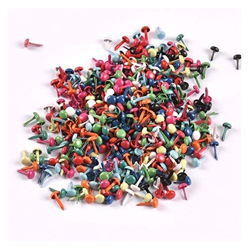 WEIGENG Juego de 100 tacos redondos para decoración de ropa, manualidades, zapatos, 5 x 10 mm (color mezclado)
