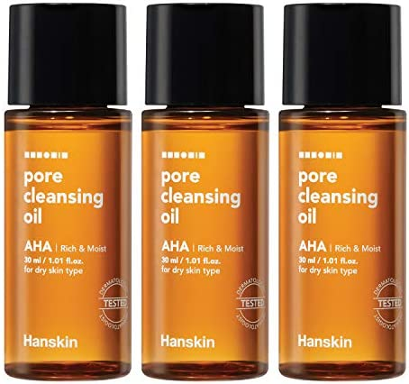 Hanskin Alpha Hydroxy Acid Pore Cleansing Oil Sample Trial Mini Size Exfoliating Makeup Remover product image