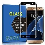 Samsung Galaxy S7 Edgeフィルム 【3D曲面】Galaxy S7 Edge SC-02H SCV33ガラスフィルム 【日本製素材旭硝子製】業界最高硬度9H/99%高透過率/3D Touch対応/自動吸着/気泡ゼロ Samsung Galaxy S7 Edge液晶保護フィルム