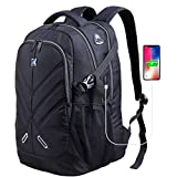 OUTJOY 17 In Laptop Backpack for Men Women Waterproof School Backpack Travel Work Backpack with Rain Cover USB Port