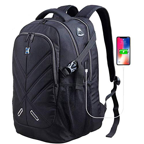 17.3 inch Laptop Backpack with Rain Cover Shockproof Waterproof Travel Work Backpack School Backpacks for Men Women